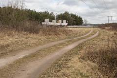 Cykelvägen parallellt med E18