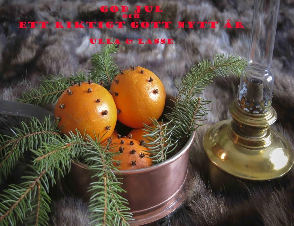 Julkort Ulla & Lasse